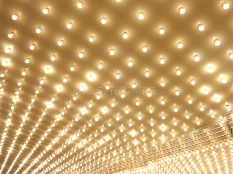 De lichten van de markttent royalty-vrije stock foto's