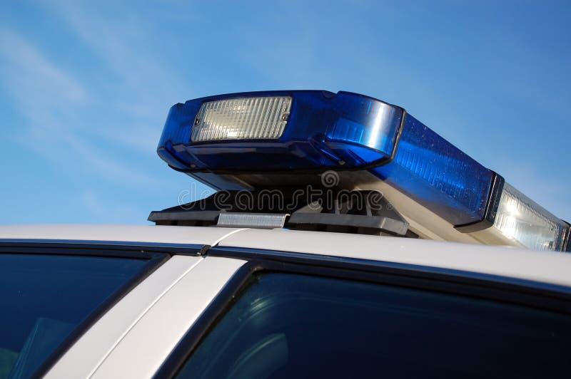 De Lichten van de politie stock foto's