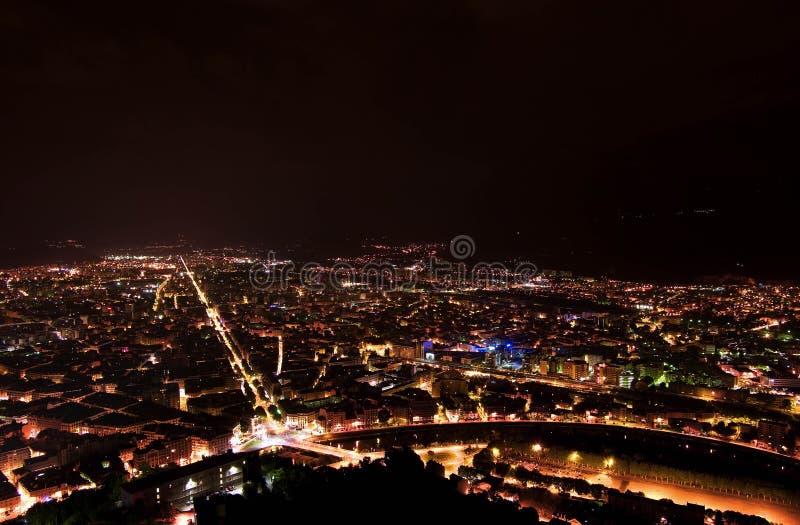 De lichten van de stad stock fotografie