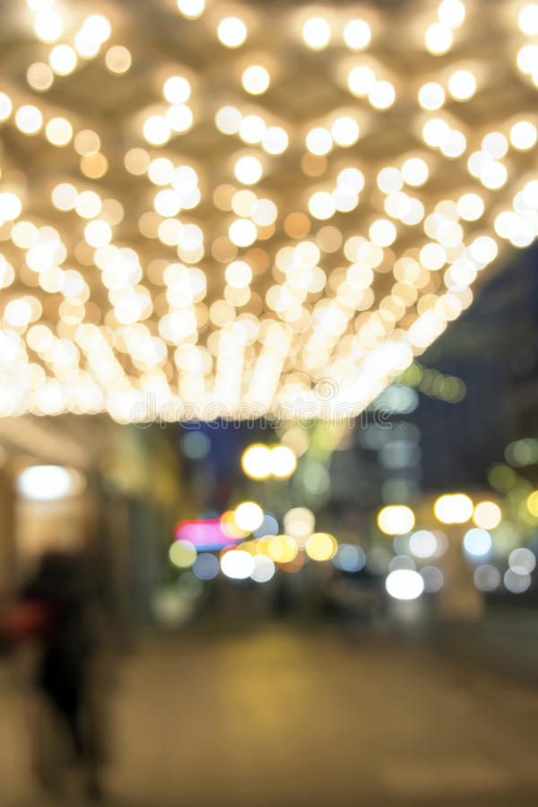 De Lichten van de theatermarkttent op Broadway Vage Lichten stock fotografie