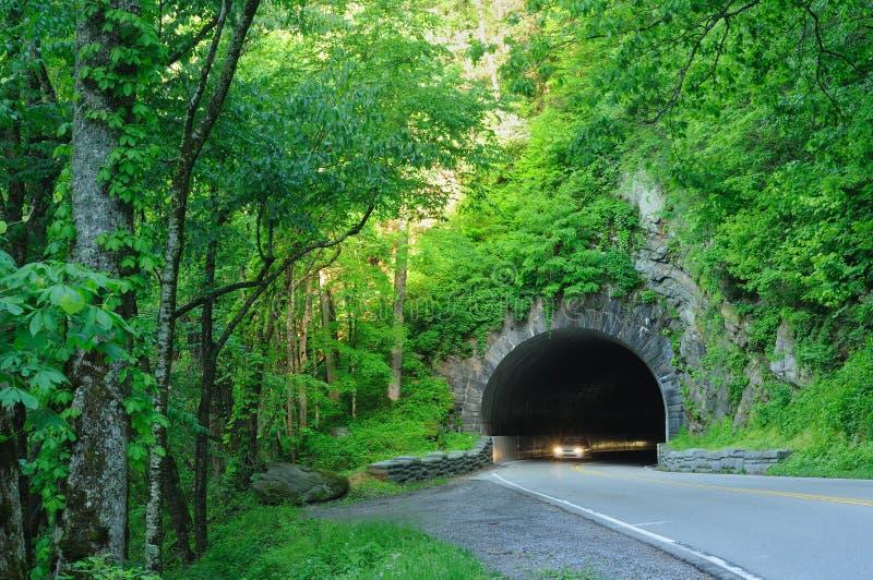 De lichten van de tunnel stock foto's