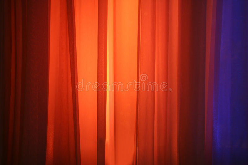 De Lichten van de vlek tegen het Gordijn van het Stadium royalty-vrije stock foto