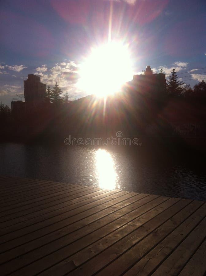 De lichten van een zon royalty-vrije stock fotografie
