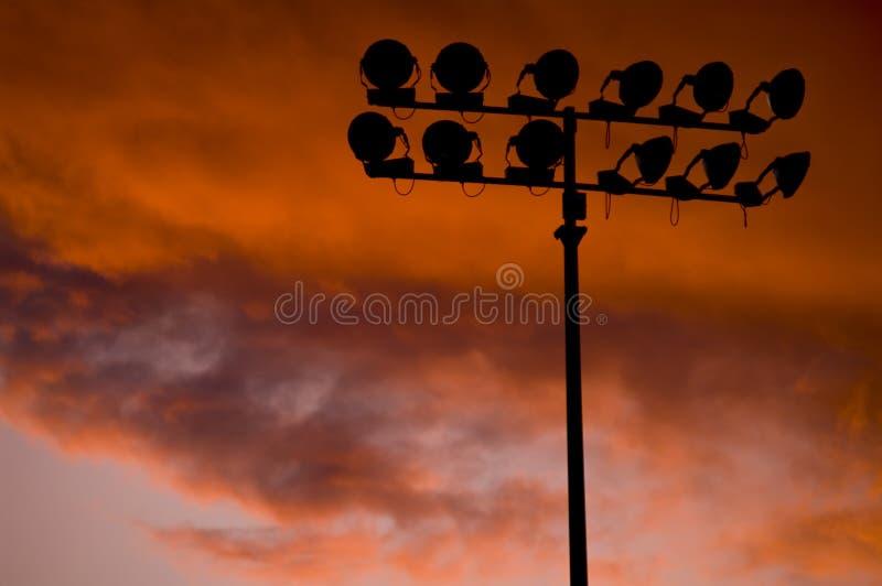 De lichten van het gebied stock fotografie