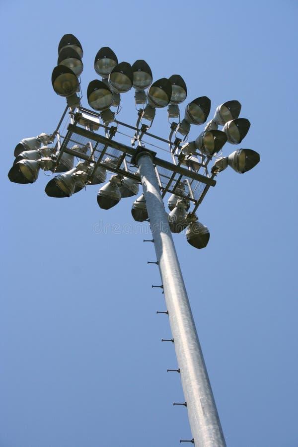 De Lichten van het sportterrein stock afbeeldingen