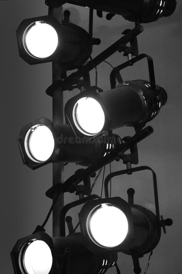 De Lichten van het stadium stock afbeelding