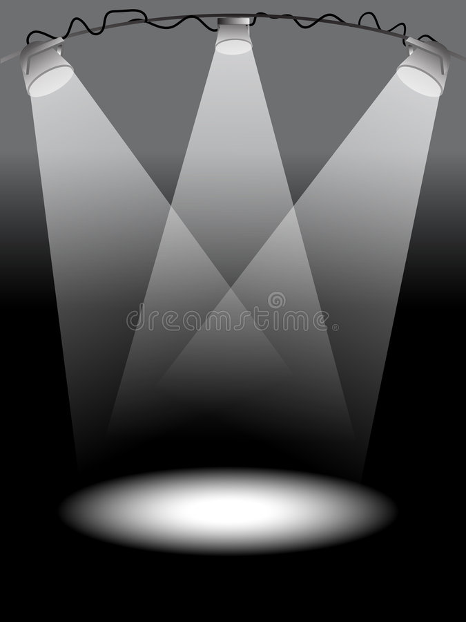 De lichten van het stadium vector illustratie