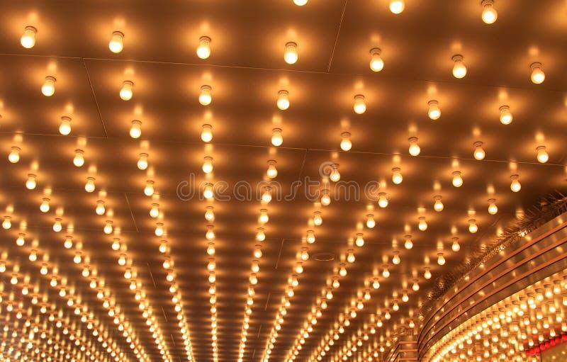 De Lichten van het theater stock foto's
