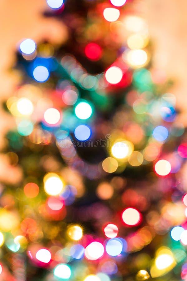 De lichten van de kerstboom stock afbeelding