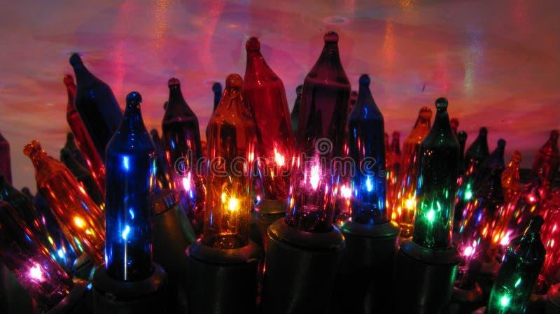 De lichten van Kerstmis stock foto