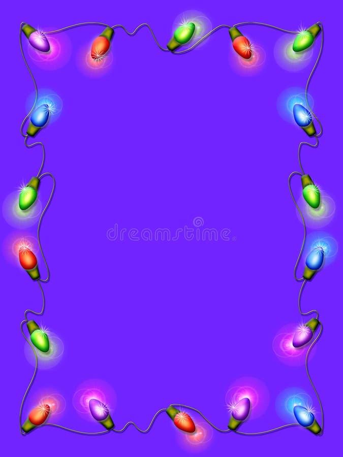 De Lichten van Kerstmis royalty-vrije illustratie
