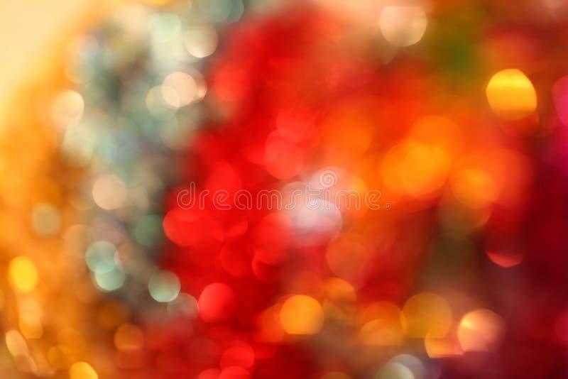 De lichten van Kerstmis en bokeh (vele kleuren) stock afbeelding