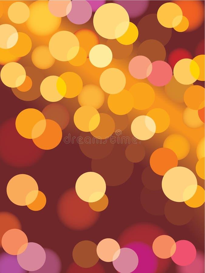 De lichten van Kerstmis, vector