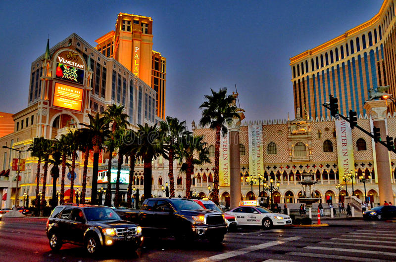 De Lichten van Las Vegas stock afbeeldingen