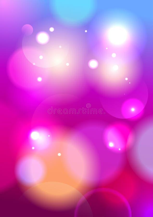 De lichtenachtergrond van glamour roze bokeh. royalty-vrije illustratie