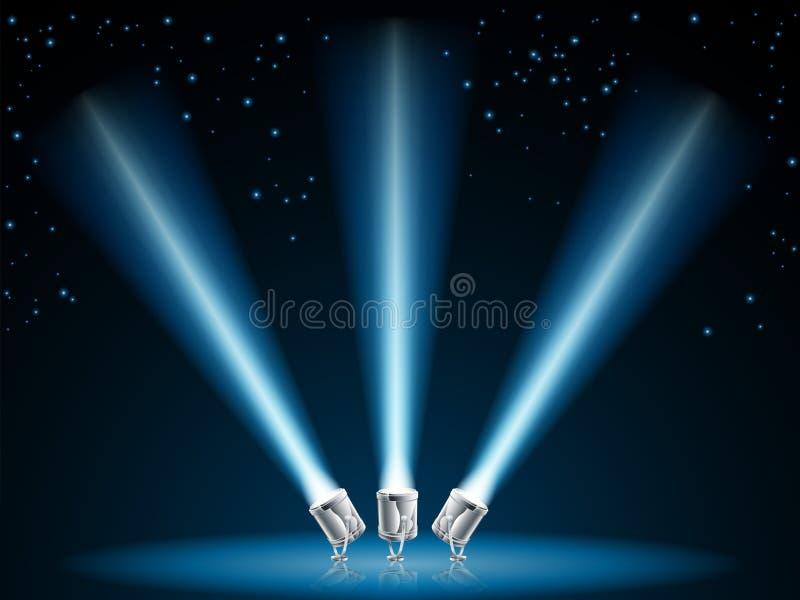 De lichtenillustratie van het onderzoek of van de vlek