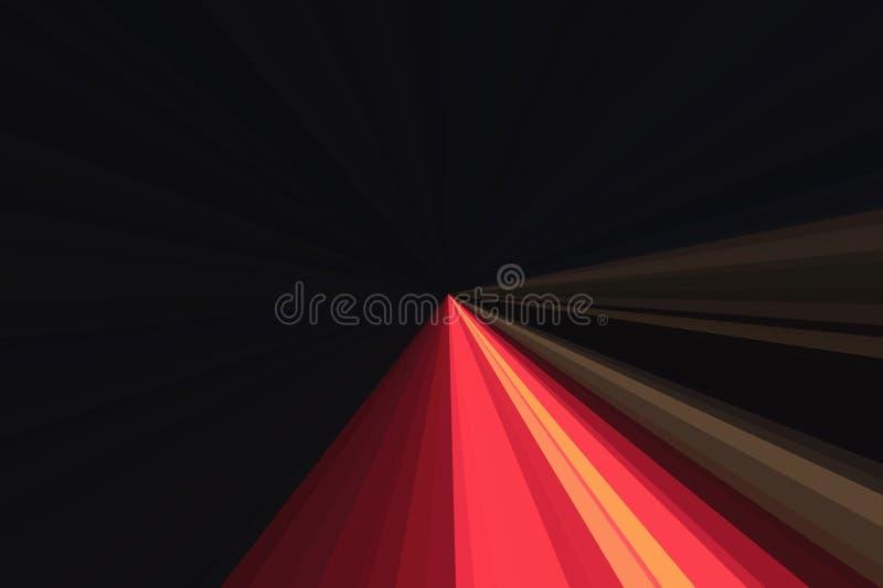 De lichtenlaser toont Nachtclubmuziek, het dansen correct licht De partij van DJ van de clubnacht Abstracte stralenachtergrond St royalty-vrije illustratie