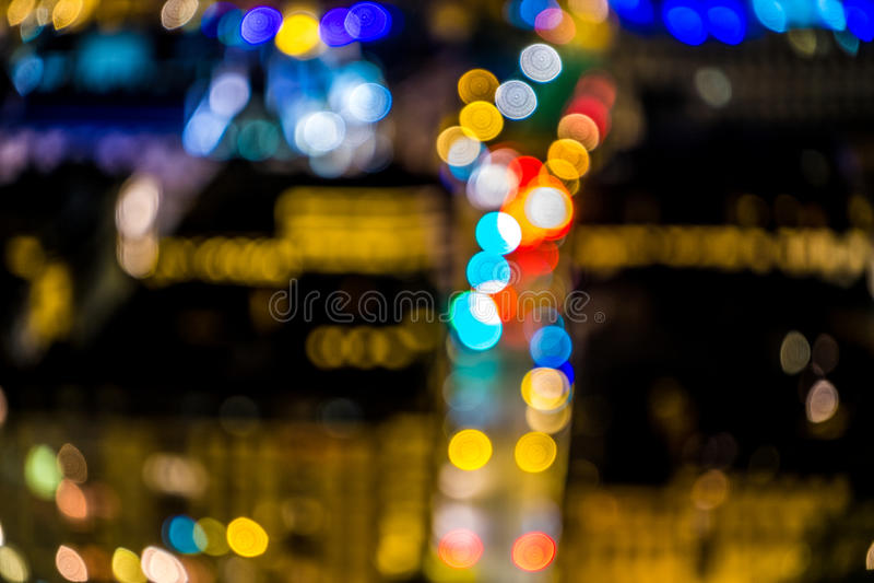 De lichtenonduidelijk beeld van de wegstad bokeh, abstracte achtergrond stock illustratie