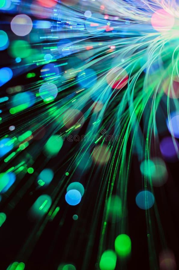 De lichtensamenvatting van de vezeloptica stock fotografie