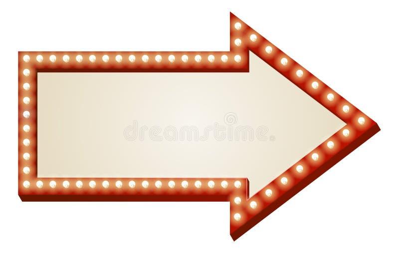 De lichtenteken van de pijl royalty-vrije illustratie