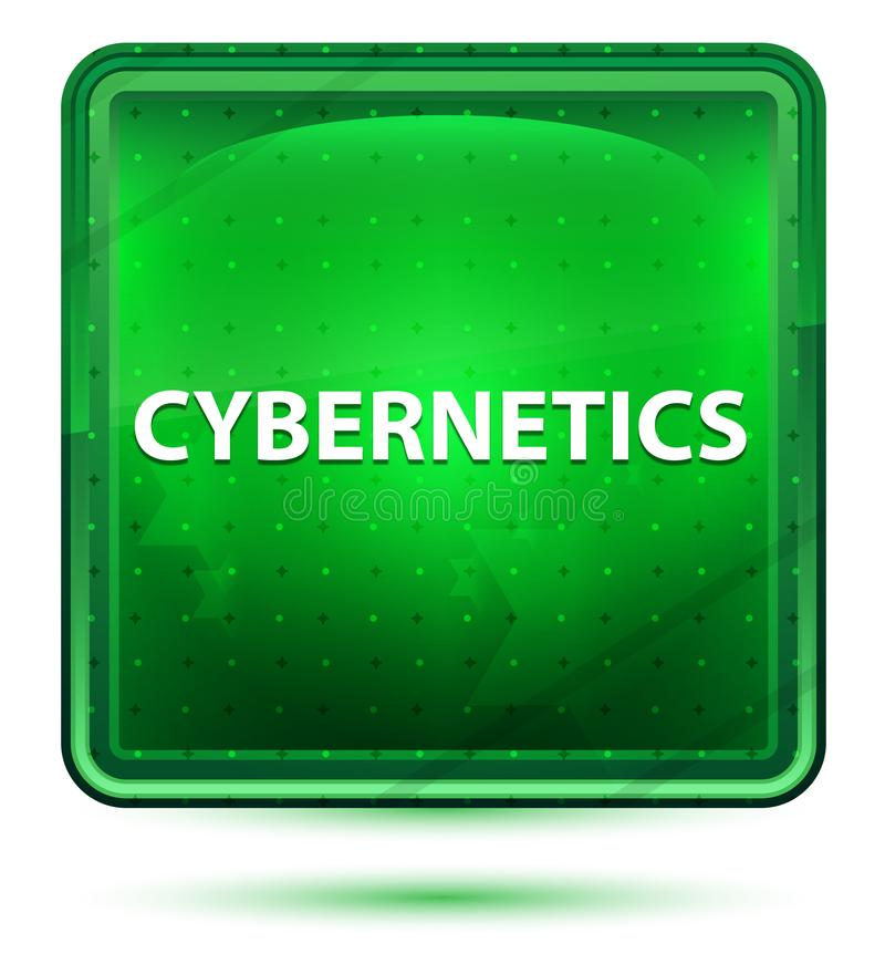 De Lichtgroene Vierkante Knoop van het cyberneticaneon vector illustratie