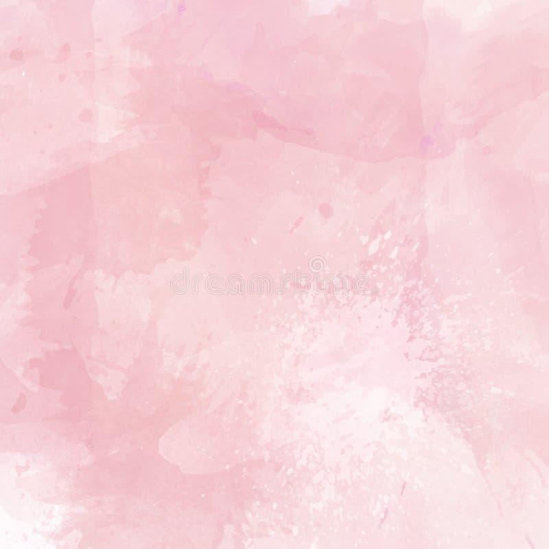 De lichtrode vector watercolored textuur voor achtergrond stock illustratie