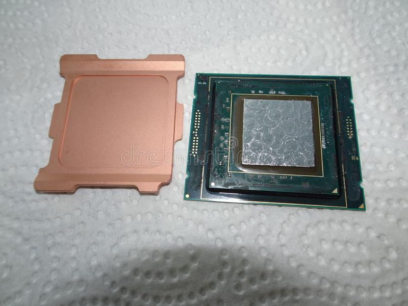 De lidded Intel Skylake CPU stockbilder