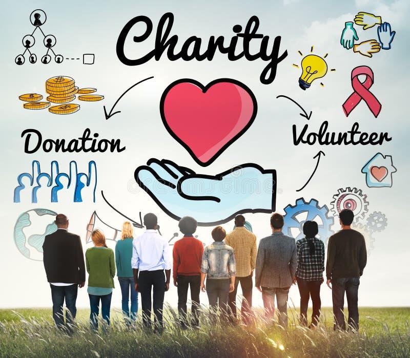 De liefdadigheid schenkt het Liefdadige Gevende Concept van de Welzijnsgrootmoedigheid stock foto's
