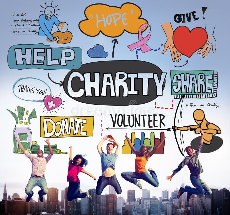 De liefdadigheidshulp geeft Vrijwilligersconcept stock foto