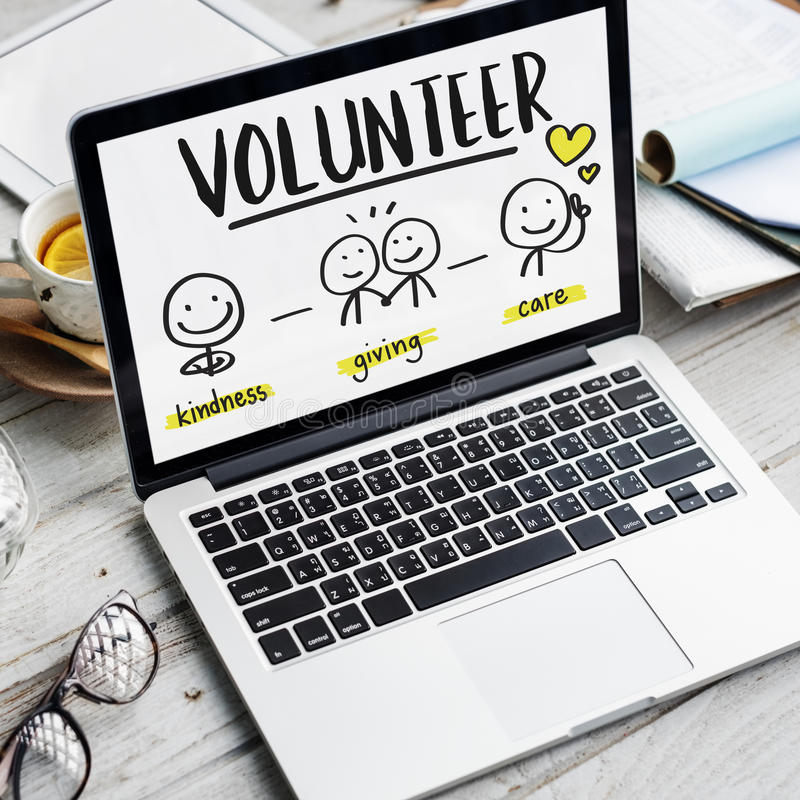 De Liefdadigheidsinstellings Vrijwilligersconcept Zonder winstbejag van liefdadigheidsschenkingen royalty-vrije stock afbeeldingen