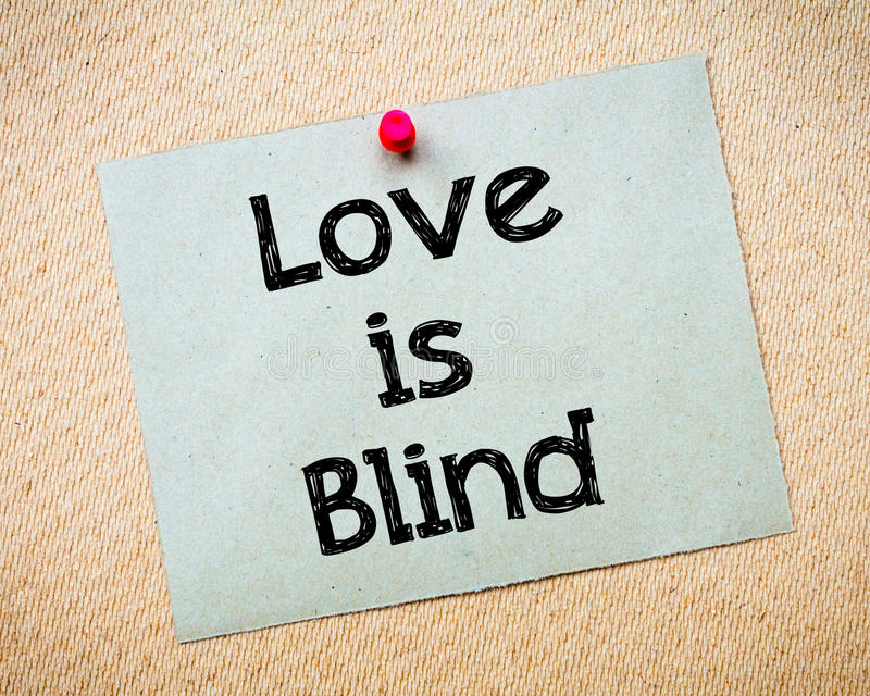 De liefde is blind royalty-vrije stock afbeelding