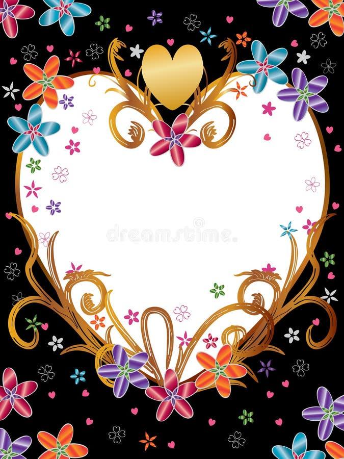 De liefde bloeit het Product van het Frame royalty-vrije illustratie