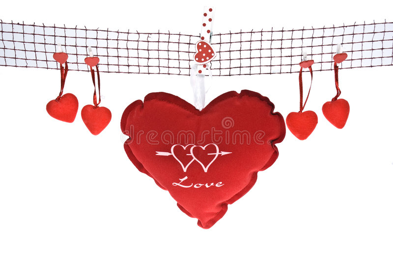 De liefde is in de lucht stock afbeelding