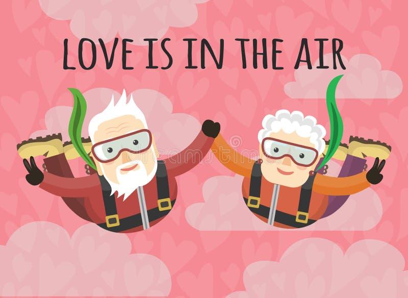 De liefde is in de lucht stock illustratie
