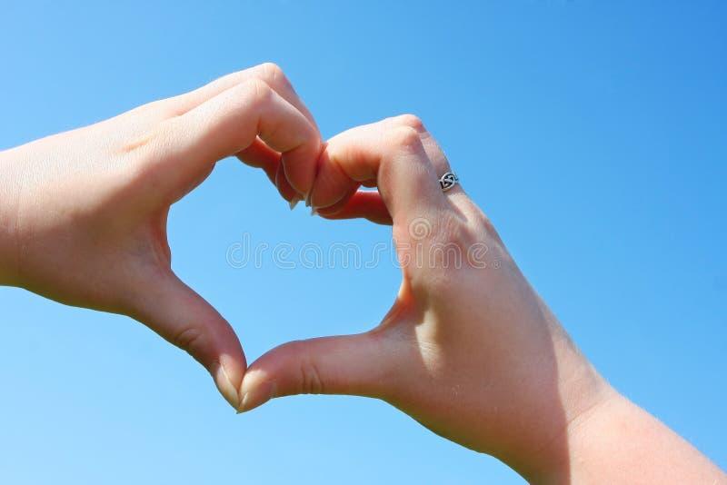 De liefde is in de lucht stock foto