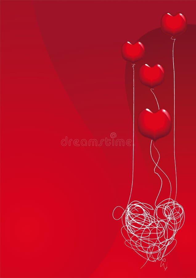 De liefde is een ballon royalty-vrije illustratie