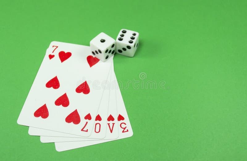 De liefde is een gok royalty-vrije stock afbeelding