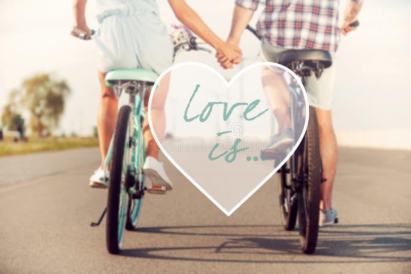 De liefde is… roze teller op witte achtergrond royalty-vrije stock foto