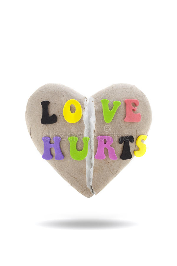 De liefde kwetst stock foto's