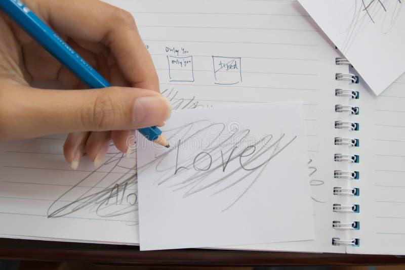 De liefde is niet waar royalty-vrije stock afbeeldingen