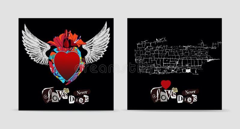 De liefde sterft nooit vector illustratie