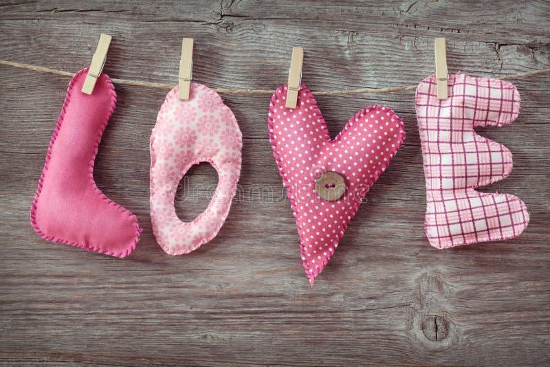 De liefde van brieven stock afbeeldingen