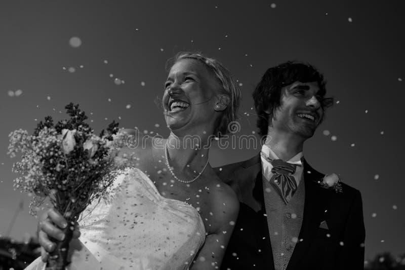 De Liefde van confettien stock foto