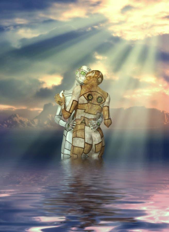 De Liefde van Cyborg royalty-vrije illustratie
