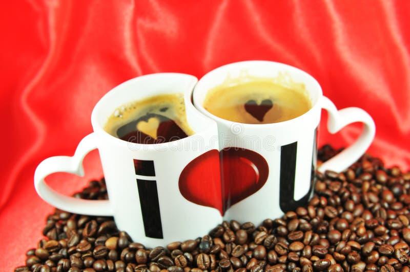 De liefde van de koffie stock foto's