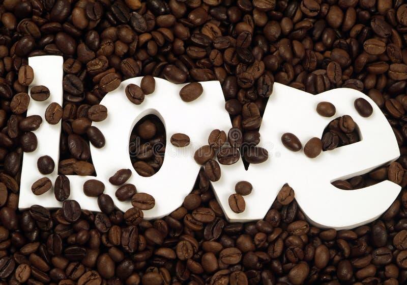 De Liefde van de koffie royalty-vrije stock afbeelding