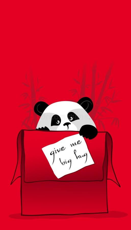 De liefde van de panda stock illustratie