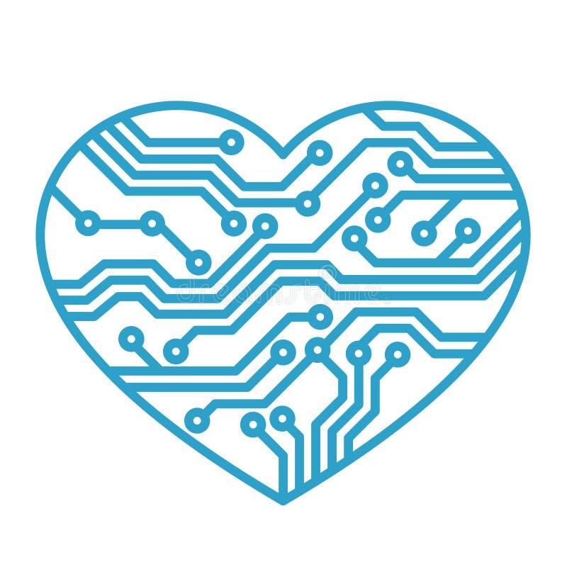De liefde van de technologie royalty-vrije illustratie