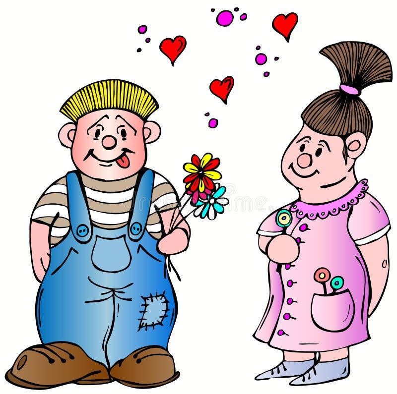 De Liefde van de valentijnskaart royalty-vrije illustratie