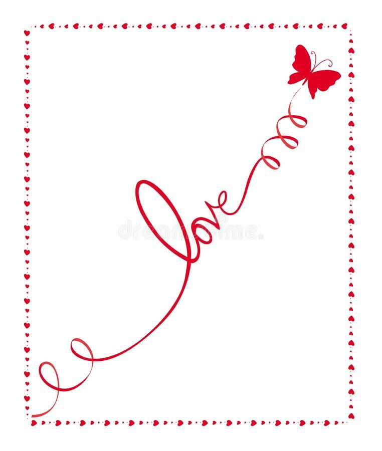 De liefde van de vlinder stock illustratie